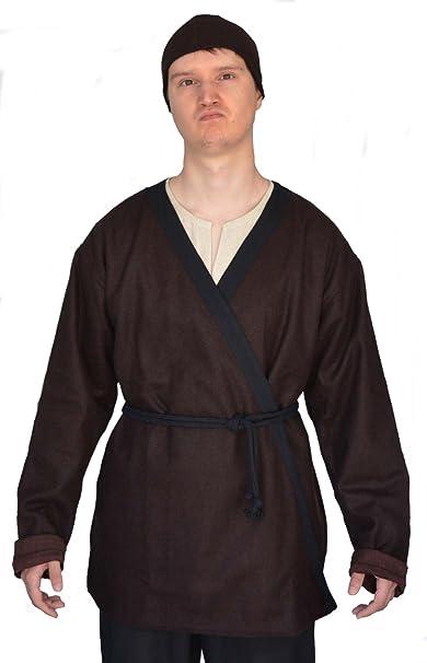 hemad Hombre Medieval Vikingo abrigo Fieltro Marrón L de XXXL: Amazon.es: Ropa y accesorios