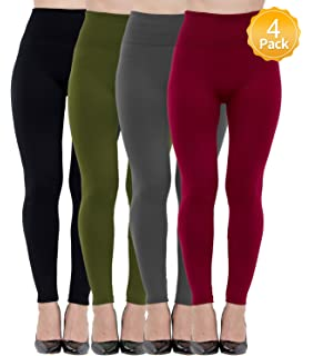 65e1122791235 Dimore 6 Pack Women High Waist Leggings Fleece Lined-Seamless,Elastic,Ankle  Length