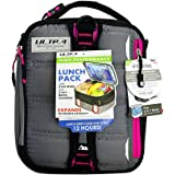 Arctic Zone 3-in-1 Bento Lunch Bag Durable Lunch Box with Drink Cooler Compartment Detachable Shoulder Strap and 2 Reusable Ice Pack, Gray