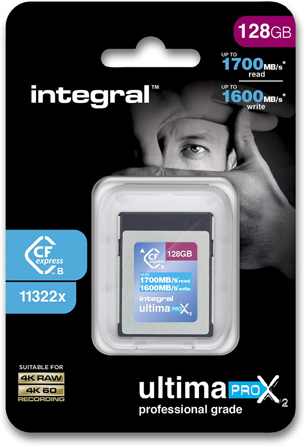 Integral 1TB CFexpress Memory Card Type B 2.0 1700MB//s Read 1600MB//s Write Speed Designed for the Professional Photographer and Cinematographer