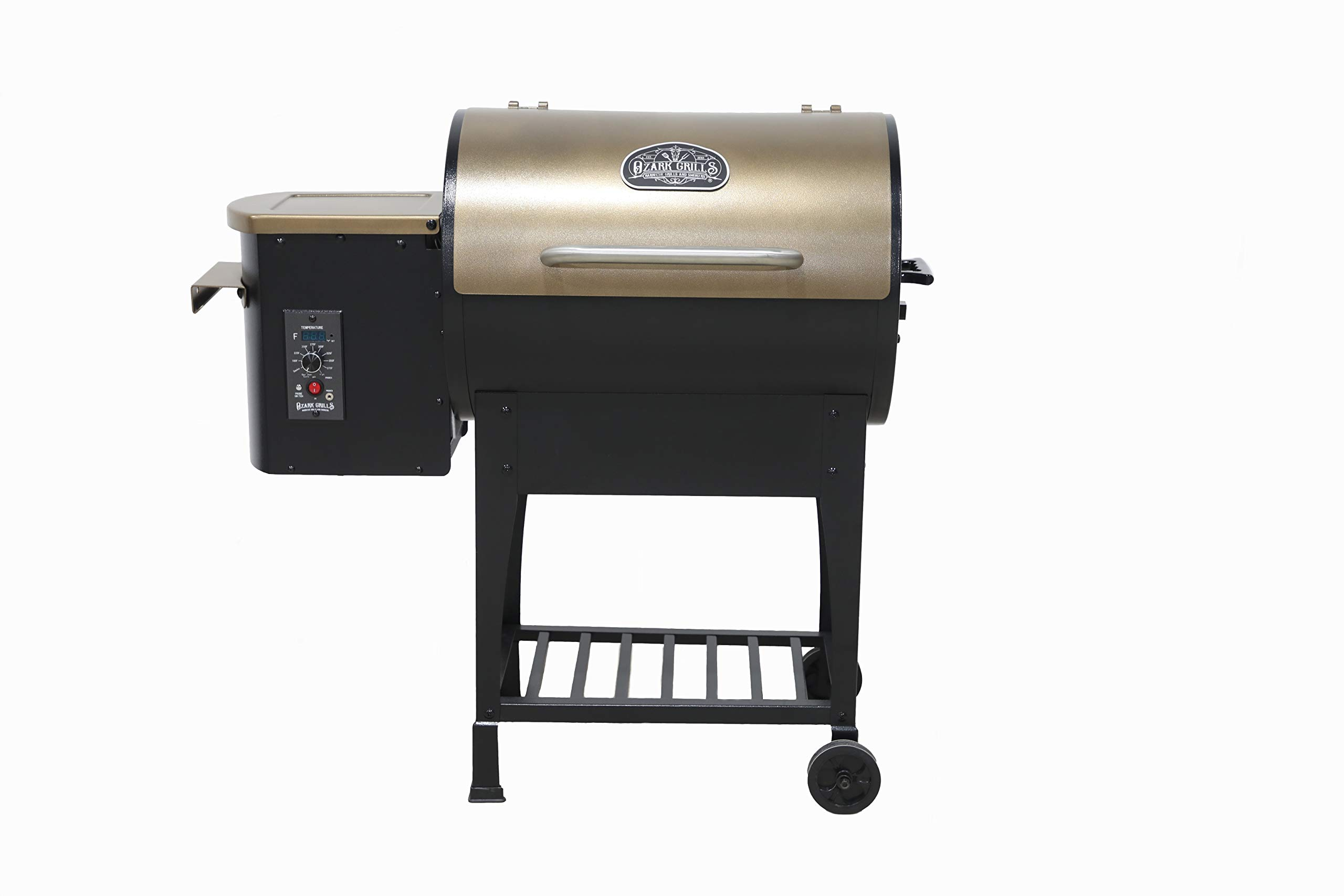 Ozark Grills - The Razorback Wood Pellet Grill and Smoker with Temperature Probe, 11 Pound Hopper, 352 Square Inch Cooking Area by Ozark Grills