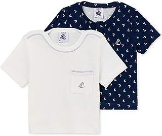 Petit Bateau Lot TS Ais, T-Shirt Bimbo (Pacco da 2)