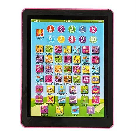 Niños Que aprenden Inglés Tablet PC portátil niños del Ordenador de Juguetes educativos para niños