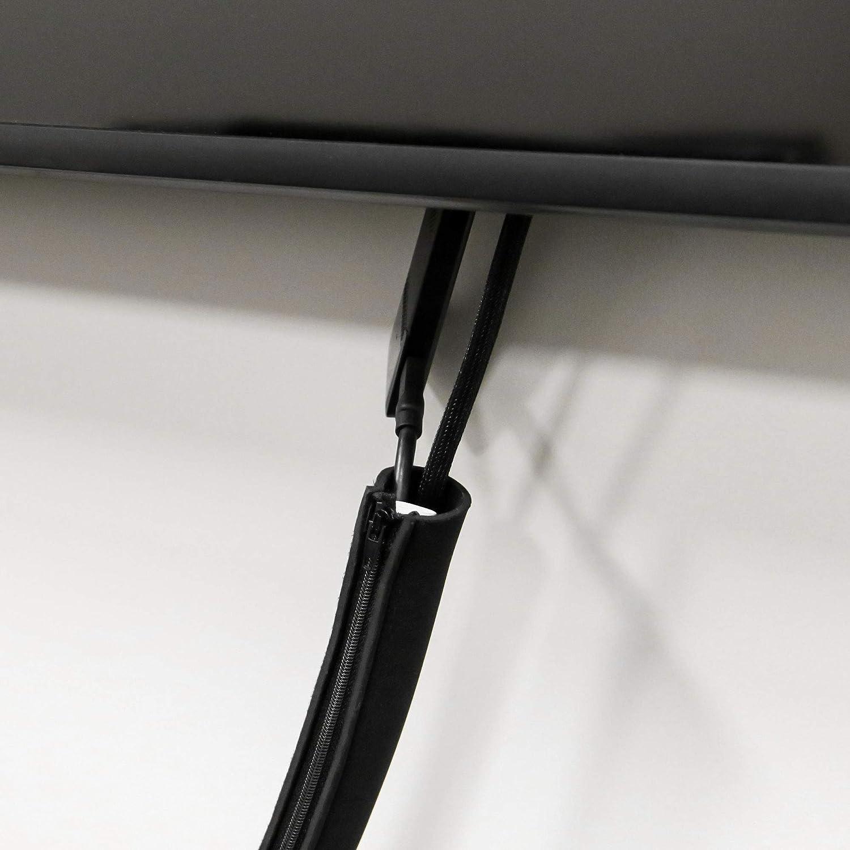 Organizadores de cabelado para ordenadores de hogar y oficina Pukkr Bridas de pl/ástico con cremallera Organizador de cables Enlace de cable Organizador de escritorio Set de 8