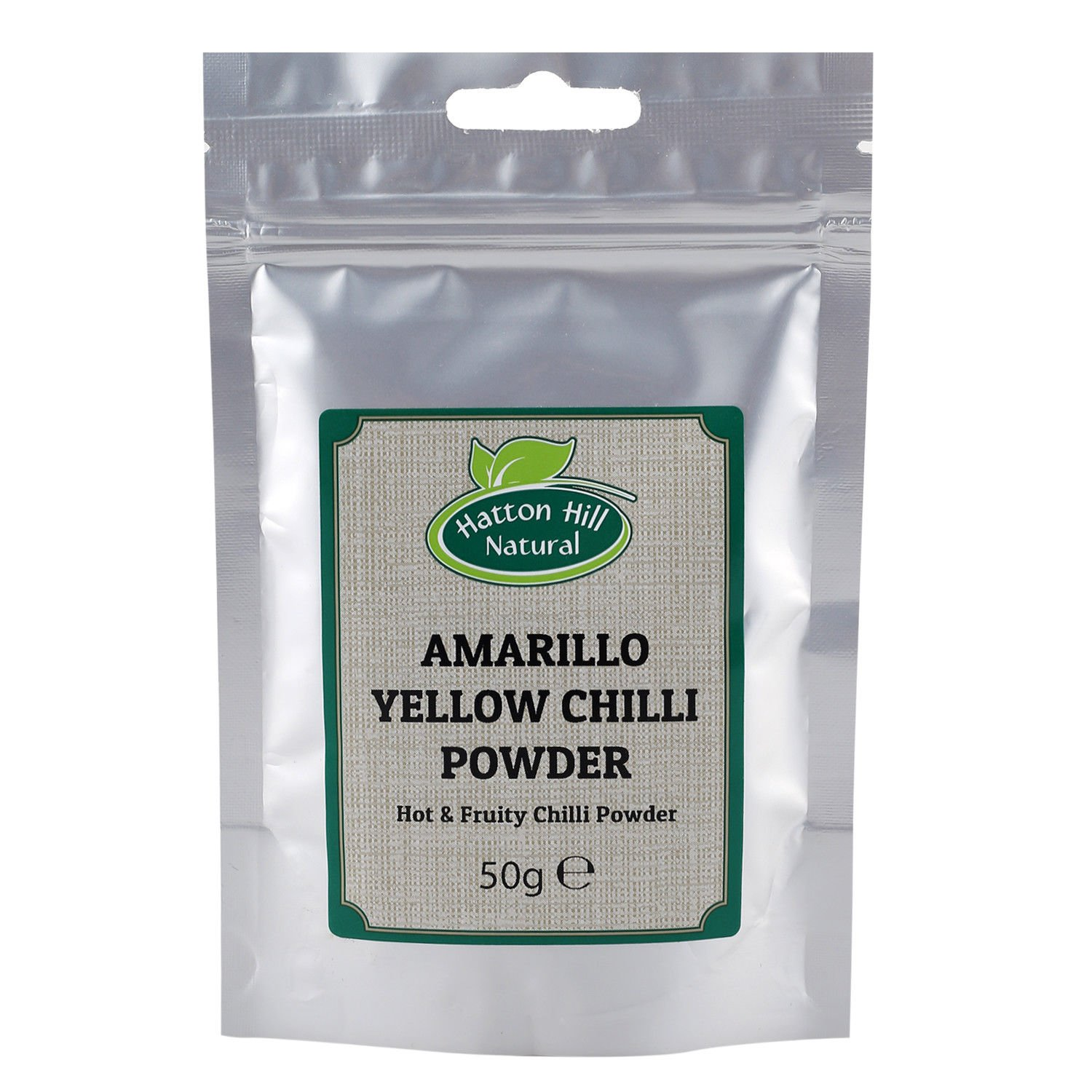 Amarillo Yellow Chilli Powder 50g by Hatton Hill - Free UK Delivery