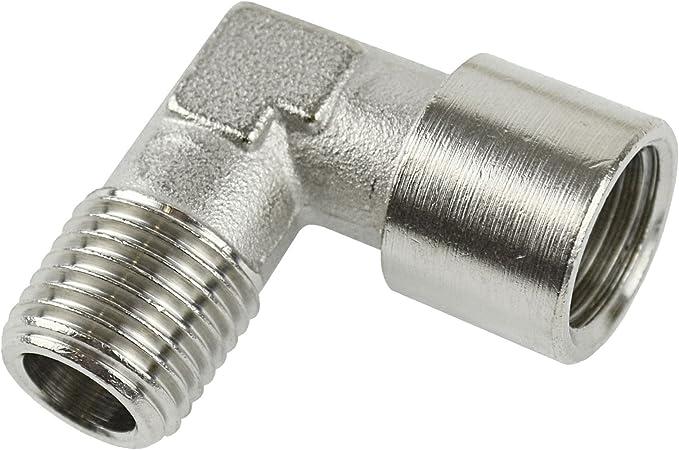 Bottone maschio in Push Fit Pneumatico Raccordi dell/'Aria 1//4 BSPT Raccordo A 4mm 000596