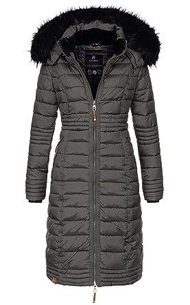 offizielle Seite viele möglichkeiten Schnelle Lieferung Navahoo Damen Wintermantel Mantel Steppmantel Winter Jacke lang Stepp warm  Teddyfell B670