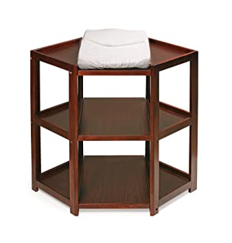 Delicieux Amazon.com : Diaper Corner Baby Changing Table With Contoured Pad : Badger  Basket White Table : Baby