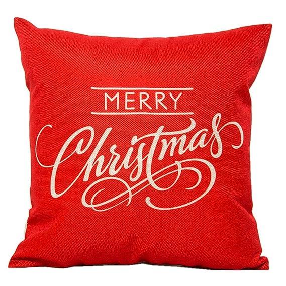Amazon.com: hosl psd12 Feliz Navidad Algodón Lino Plaza ...