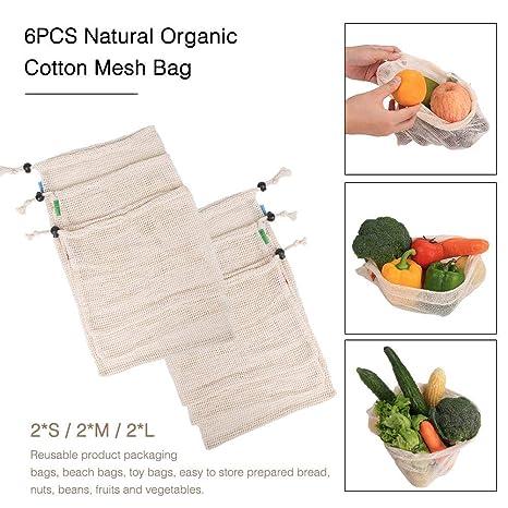 Bolsas Compras Reutilizables Bolsas Algodón Orgánico Natural ...