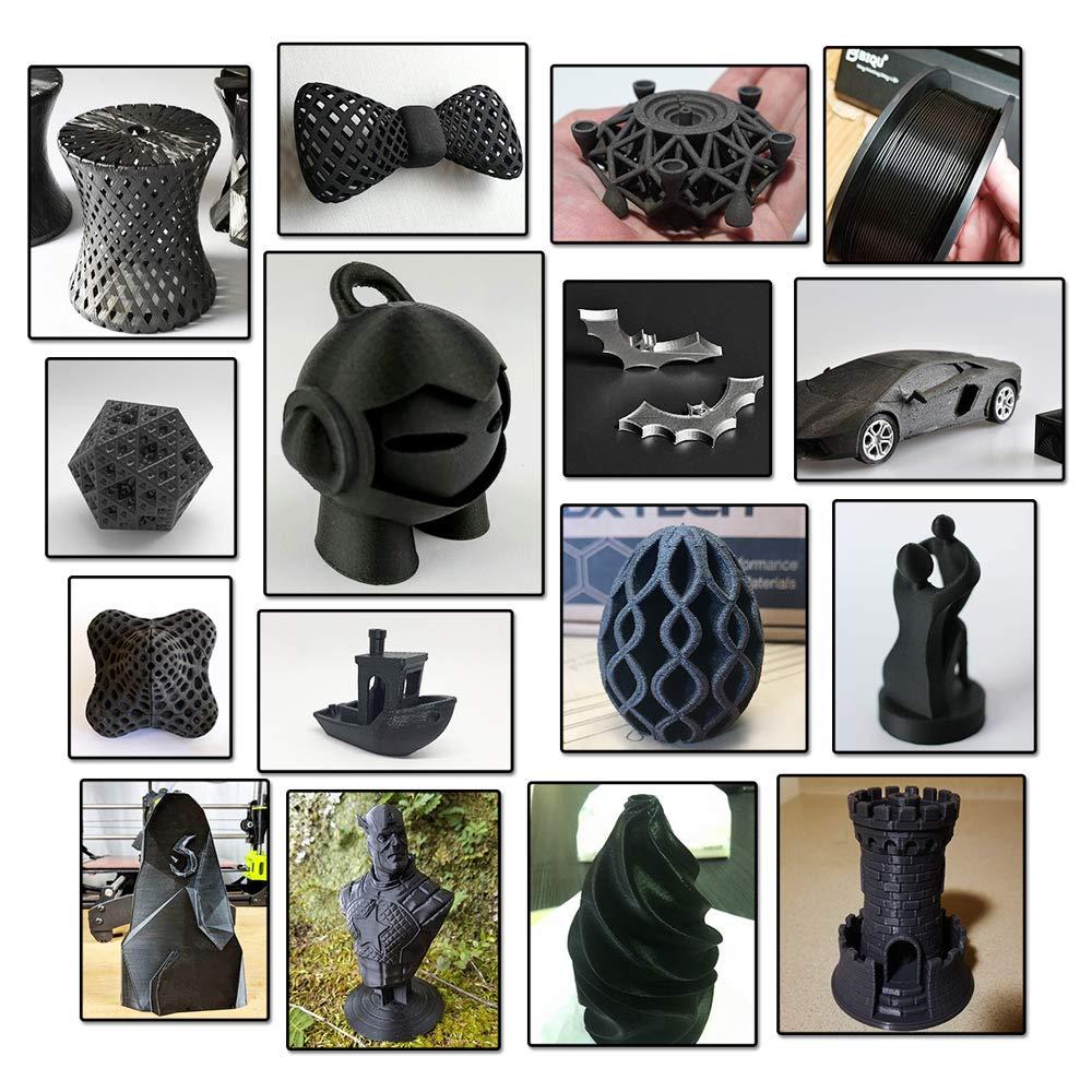 1.75 mm Dimensional Accuracy +//- 0.02 mm 1kg Spool Carbon Fiber Black SUNLU Carbon Fiber PLA filament 1kg 1.75mm 3D Printer Filament