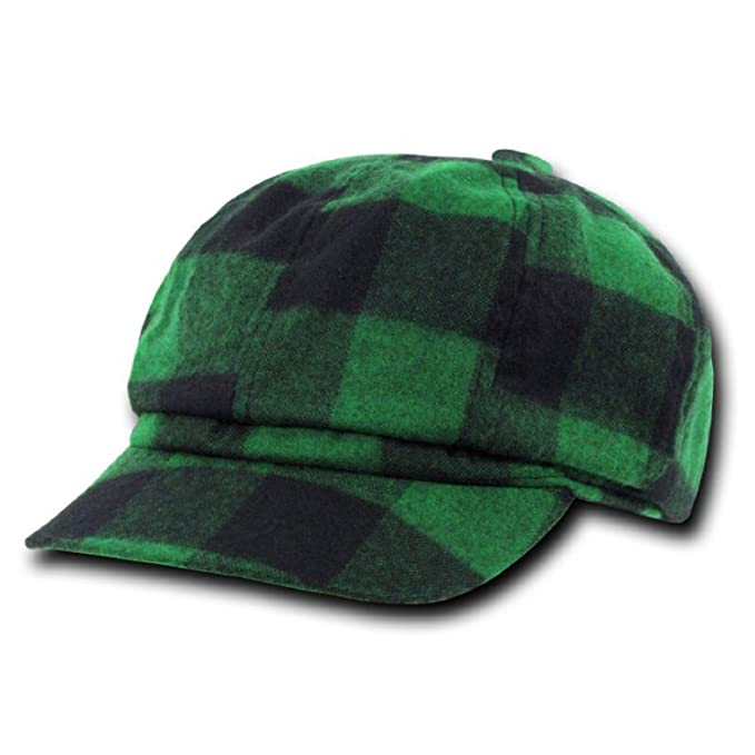 Decky Original Plaid Newsboy Hats Green, S / M at Amazon