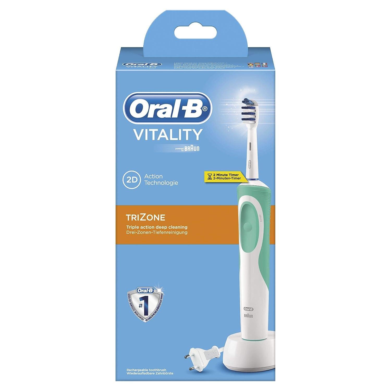 Oral-B Vitality Trizone Cepillo de Dientes Eléctrico Recargable con Tecnología Braun: Amazon.es: Salud y cuidado personal