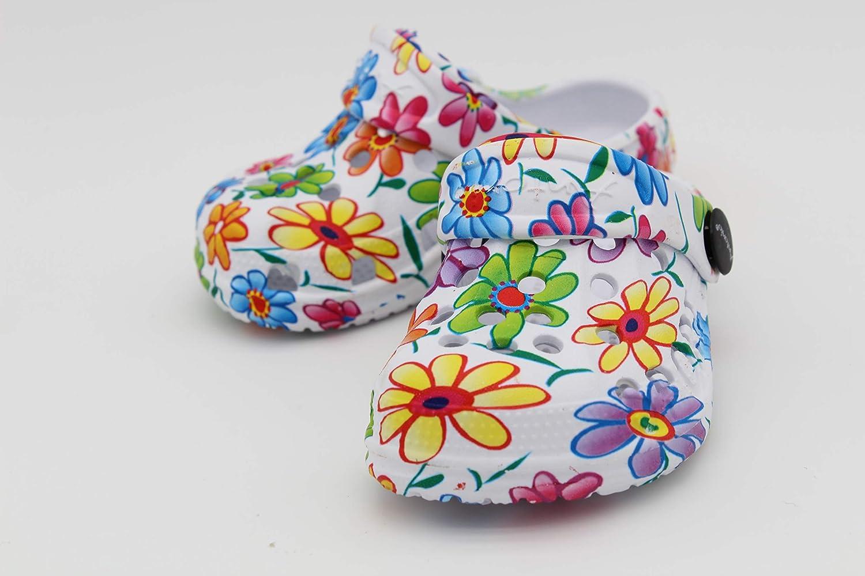 Antonio Clogs Baby superleicht Hausschuhe Gartenschuhe Schlappen Badeschuhe Gummi Gartenclogs Clocks