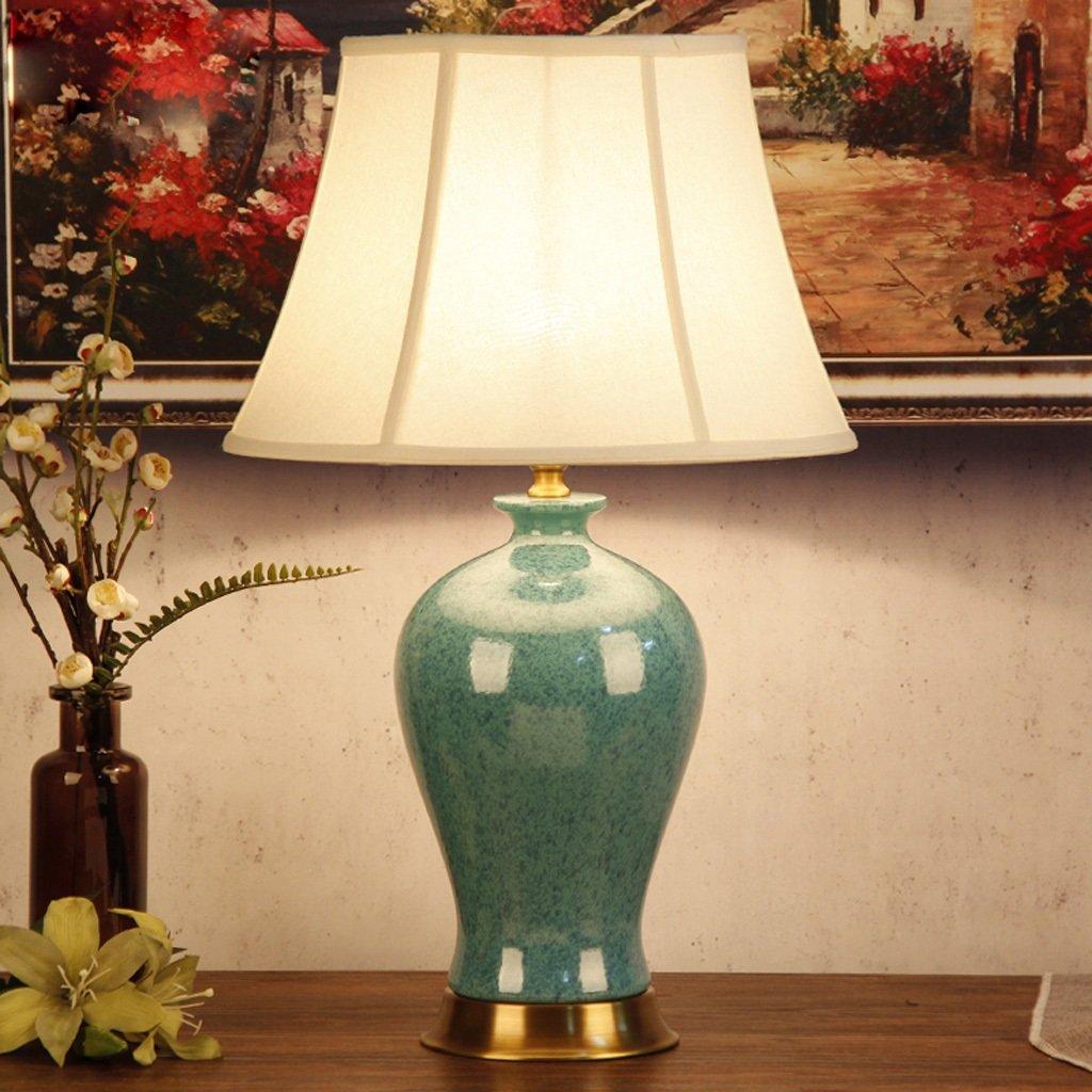 Mittelmeer-Tischlampe Moderne Scandinavian Retro Wohnzimmer kreative keramische Schlafzimmer Nachttischlampe