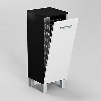 Badezimmerschrank mit wäschekorb  GABI SN1 40 BADEZIMMERSCHRANK MIT WÄSCHEKORB, KORPUS: SCHWARZ MATT ...