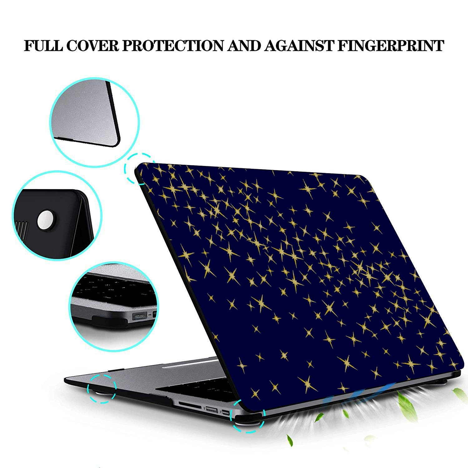 Laptop Cover Shiny Retro Noble Pentagram Sky Plastic Hard Shell Compatible Mac Air 11 Pro 13 15 MacBook Pro Protector Protection for MacBook 2016-2019 Version