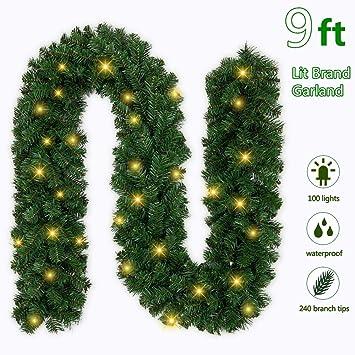 Amazon.com: Ricdecor Guirnalda de Navidad con luces ...