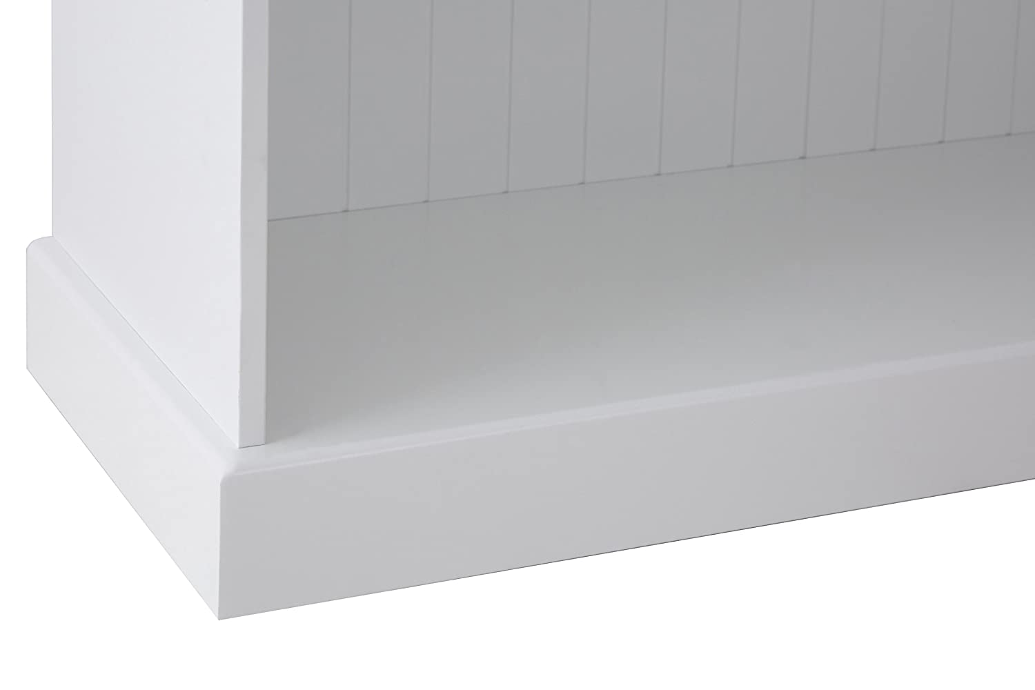 Premier Housewares Estanter/ía de 2 estantes tablero dm, 65 x 70 x 30 cm color blanco