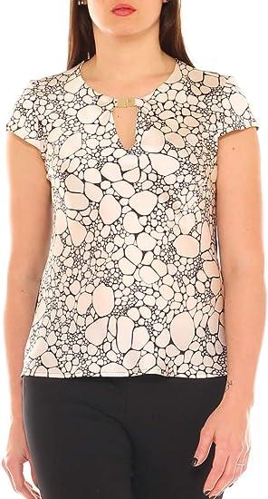 Camisa Mujer Elegante de Raso fantasía Talla Blanda Blanco Perla (ral 1013) XL: Amazon.es: Ropa y accesorios