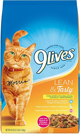 9 Lives Lean And Tasty Dry Cat Food 315 Lb Pack Of 4