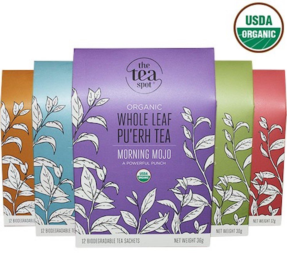 THE TEA SPOT, Organic Functional Botanical Tea Sampler | 60 Pyramid Tea Bags Count | 5 Variety Box: Turmeric Chai, Herbal Sleepy Tea, Citrus Green Tea, Vanilla Black, White Tea | Net Tea wt.: 5.1 oz by The Tea Spot