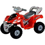Toy House Desert King Small ATV Bike 6V Rechargeable Battery Operated Ride On for Kids( 2to 4),Red