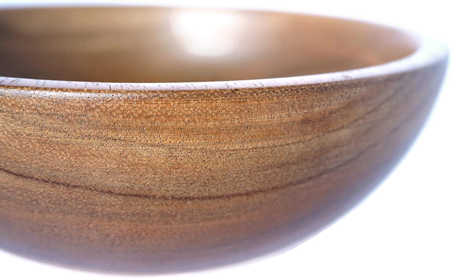 Single Bowl 25 cm x 10cm 10 Diametter x 4 Height Medium Fruits and Vegetables PLWOOD Acacia Wooden Salad Bowl Single Serving Perfect for Serving Salad