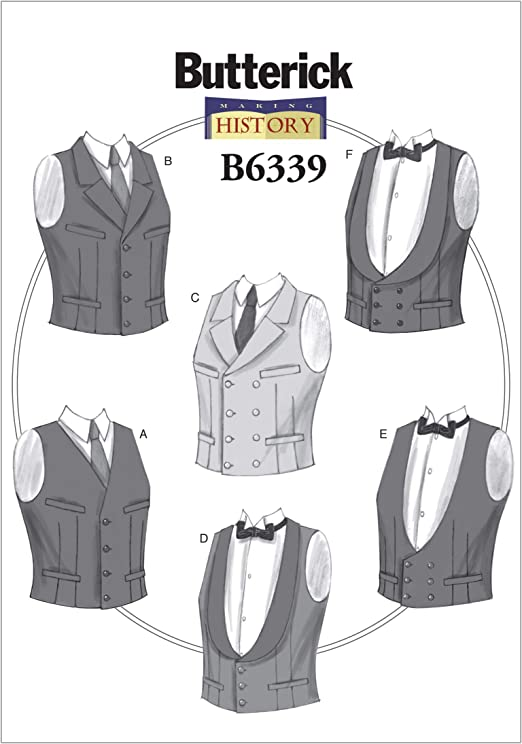 Victorian Men's Clothing, Fashion – 1840 to 1890s Mens Single or Double-Breasted Vests XM (Small-Medium-Large) $12.50 AT vintagedancer.com