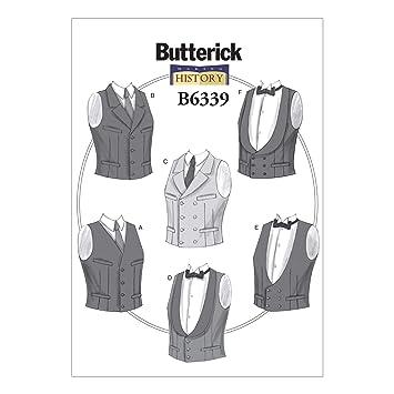7659417910 Butterick Muster 6339 XM Herren Kostüme Schnittmuster, Größen klein – Groß