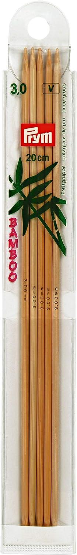 20 cm 2,0 mm Länge Stärke Strumpfstricknadeln REGIA Bamboo