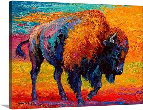 Spirit of Prairie Bison Canvas Wall Art Print
