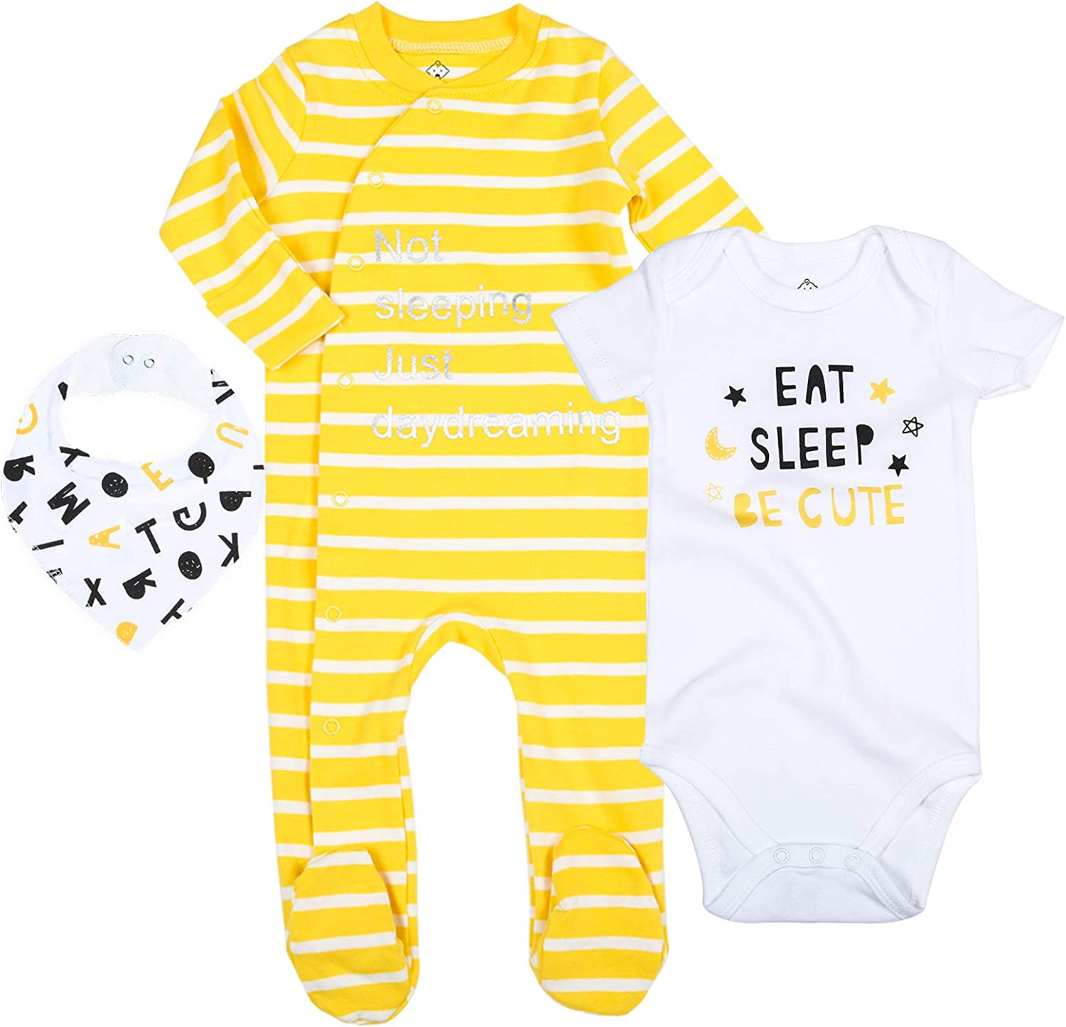 Layette Jumpsuit Onesies Baby Baby Girls Boys Infant Baby Clothes Footed Sleep