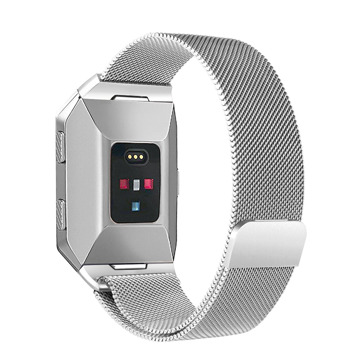 Fitbit Ionic Bands Small Large、bayiteステンレススチールMilanese Loopメタル交換用ストラップwith Uniqueマグネットロックアクセサリーfor Fitbit Ionic 6.7