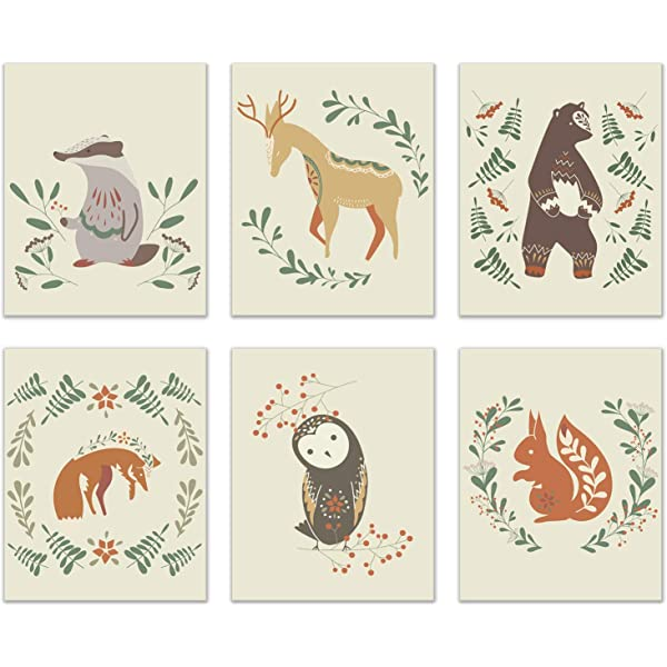 Forest Fog Fox Sitting Woodland Art Print Nordic Wildlife Animal Gallery Wall Poster Decor Gift