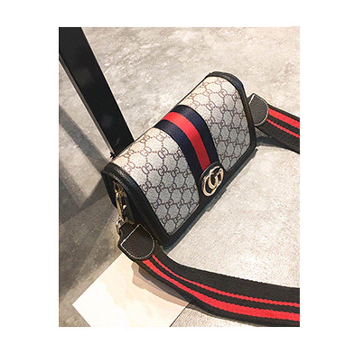 2018 Damenmode Printing Kleine Partei Tasche Mini Schultertasche Messenger Messenger Bag (Grün, 23 * 9 * 14 cm) XNRHH