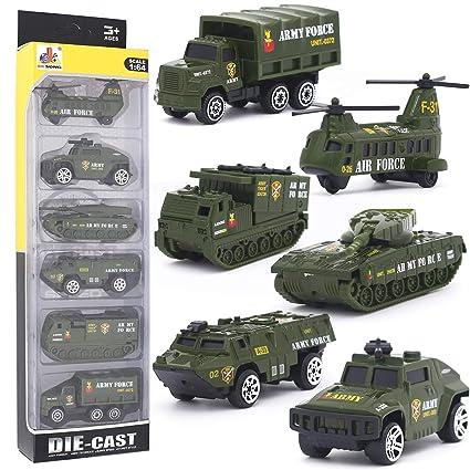 Amazon.com: DESONG - Juego de camiones militares de aleación ...
