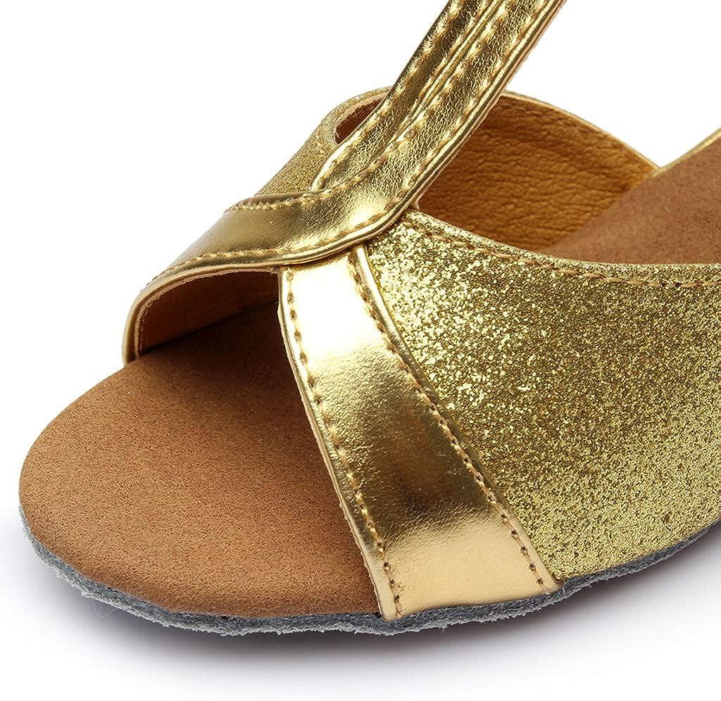 Sandals for Kids Girls Soft Sole Jifutan Baby Toddler Princess Dancing Ballroom Tango Latin Cool Shoes