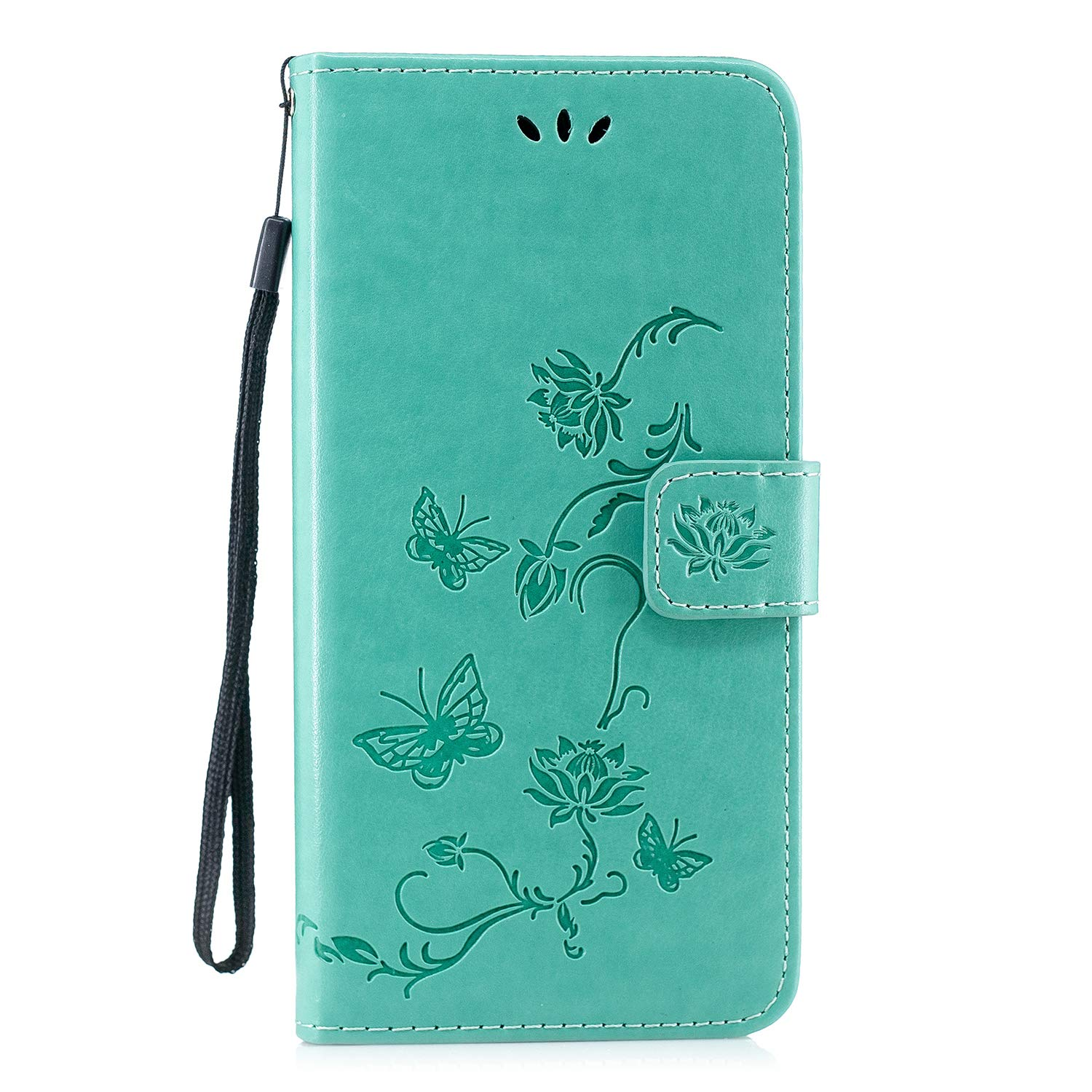 PU Leather Flip Notebook Wallet Case Embossed Lotus Butterfly with Stand Card Holder Slot Folio TPU Bumper Protective Cover for Samsung Galaxy A50 Black Thoankj Samsung Galaxy A50 Phone Case 2019