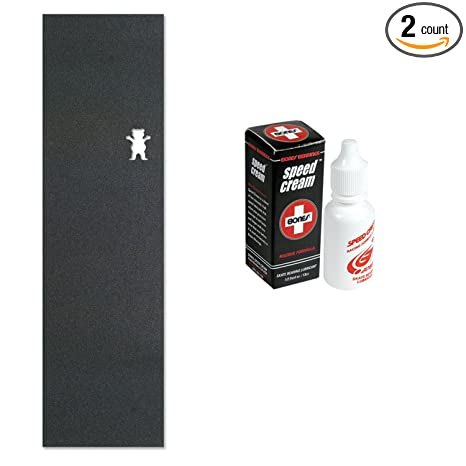 78cf336650f Amazon.com   Diamond Supply Co Grizzly Grip Tape (Black) With Bones Speed  Cream Skate Bearing Lubricant   Sports   Outdoors