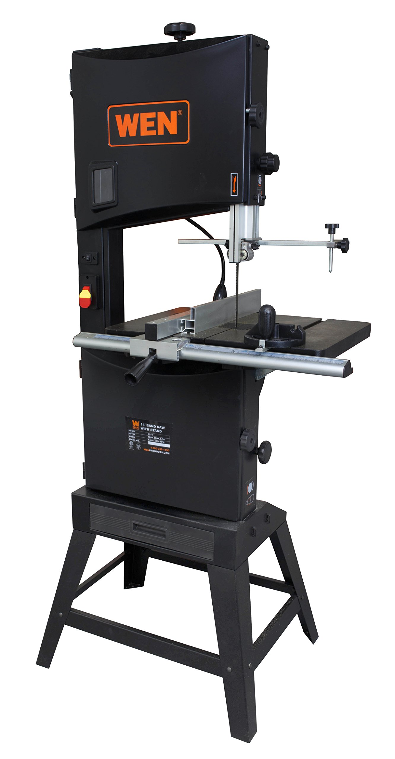 WEN 3966 Two-Speed Band Saw with Stand and Worklight, 14''