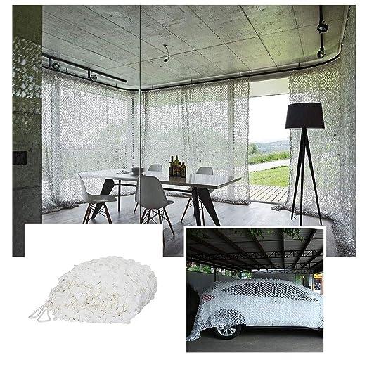 Camuflaje Blanco Decoración De Jardín Neta 4x6m Terraza