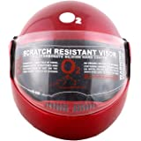 Autofy O2 Zed Full Face Flip Up Helmet (Red,M)