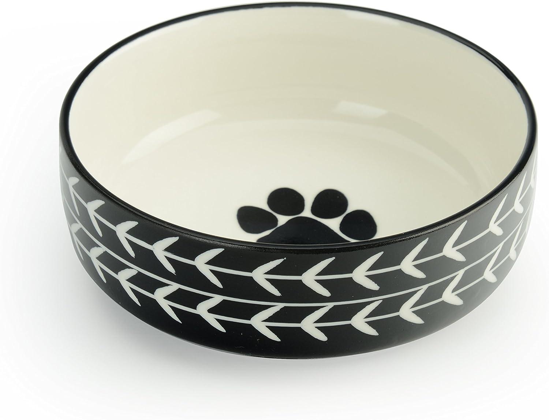 Signature Housewares Glazed Stoneware Pet Bowls