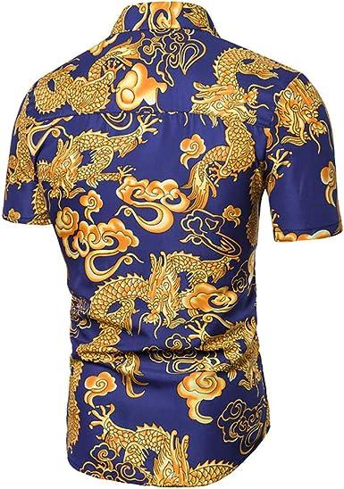 Botones De Moda Camisas Hawaianas Hombre De Manga Corta Tops Blusa: Amazon.es: Ropa y accesorios