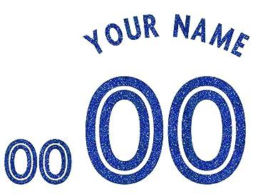 Blue Glitter Custom - Camiseta de transferencia para fútbol, baloncesto y béisbol, camisas y