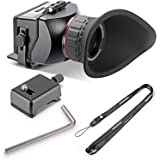 """Neewer® S4 3X Optical Magnification Foldable Viewfinder for Sony a7 a7R a7II a7S NEX-7 NEX-6 NEX-5R NEX-5T A6000 A5000/Olympus E-PL5 and Other 3"""" 16:9 LCD Screen HD DSLR Video Cameras"""