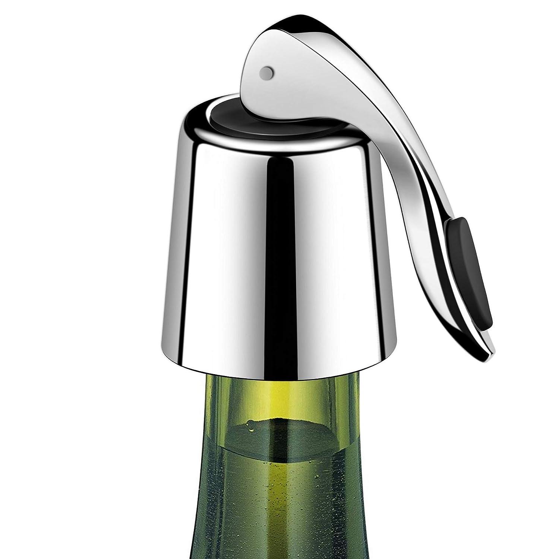 ERHIRY Wine Bottle Stopper Stainless Steel, Wine Bottle Plug with Silicone, Expanding Beverage Bottle Stopper, Reusable Wine Saver, Bottle Sealer Keeps Wine Fresh, Best Gift Accessories (1)