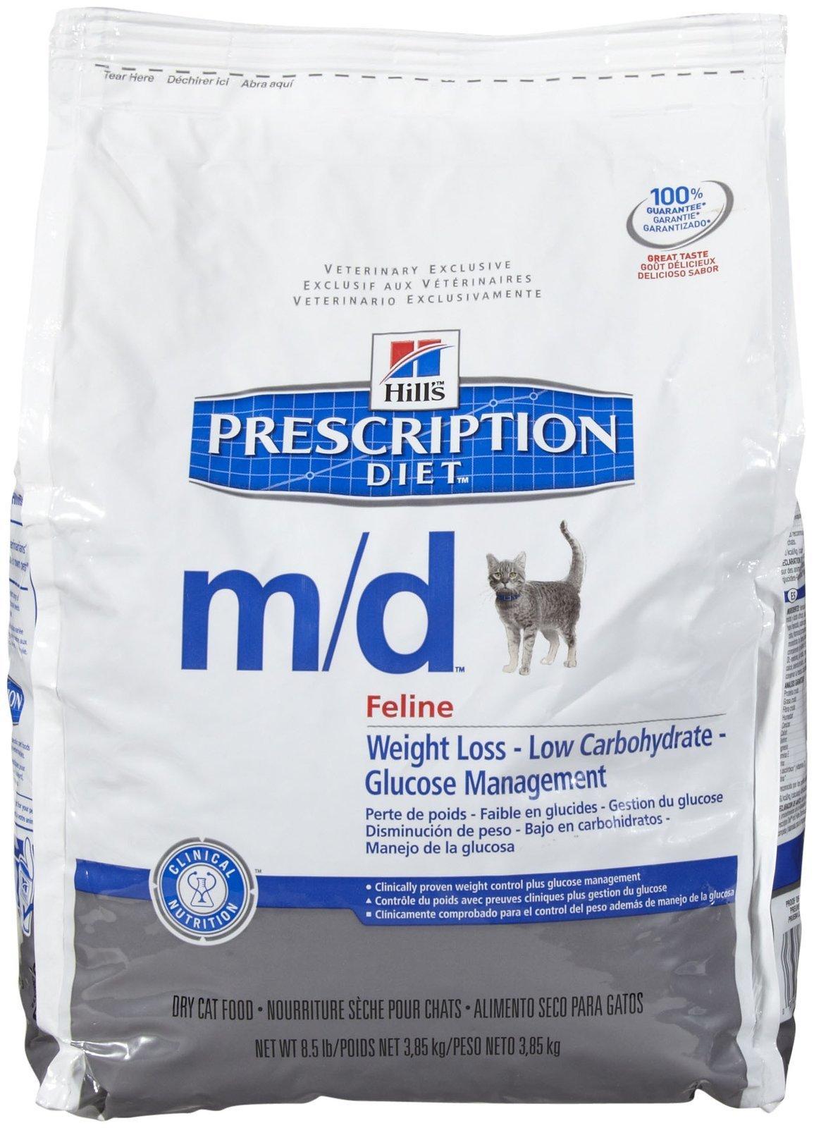 Hill'S Prescription Diet M/D Feline Glucose/Weight Management - Chicken Flavor - 8.5Lb by HILL'S PRESCRIPTION DIET