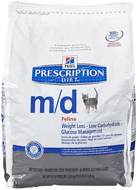 Amazon.com : Hills Prescription Diet m/d Feline Glucose/Weight Management - Chicken Flavor - 8.5lb : Pet Supplies